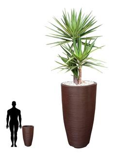 1 Vaso Redondo Decorativo Design Moderno Textura R 75x40