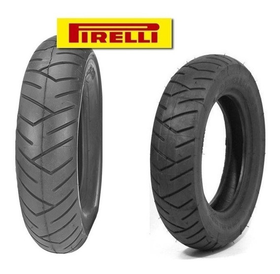 2 Pneu Suzuki Burgman 125 3.50x10 Dianteiro Traseiro Pirelli