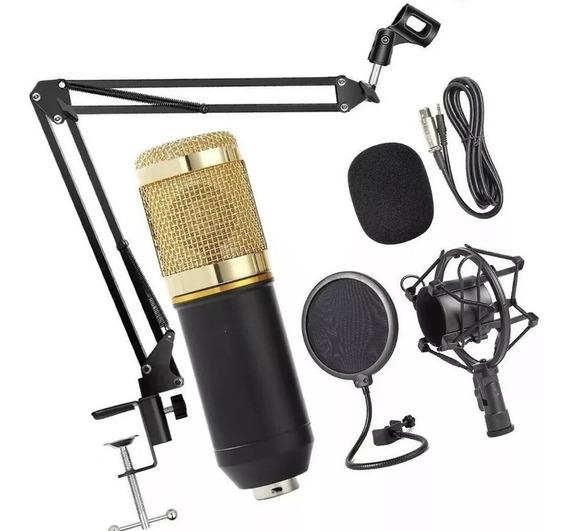 Microfone Estúdio Bm800 +aranha +pop Filte +braço Articulado