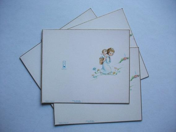 Lote De 4 Antiguas Tarjetas - Serie Dulce / Maucci Editora