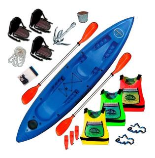 Kayak Sportkayaks Sk Familiar 3 Pers. Triplo Combo 4 Premium
