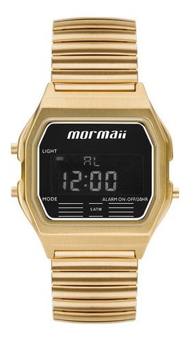 Relógio Mormaii Feminino Vintage Digital Dourado Mojh02au/4d