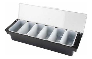 Condimentero Caja Para Condimentos Bar De 6 Insertos
