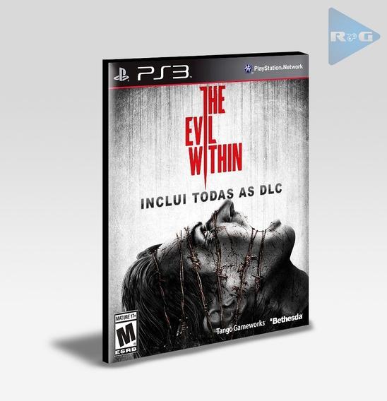 The Evil Within + Todas As Dlc Ps3 Original Envio Agora!
