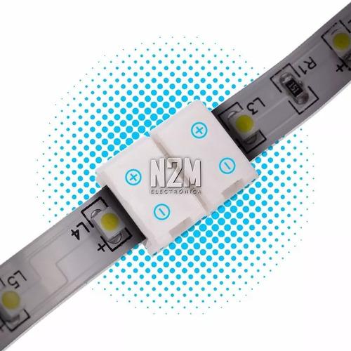 Conector Led Doble Hebilla Tira 5050 Rgb Monocromatica Colores