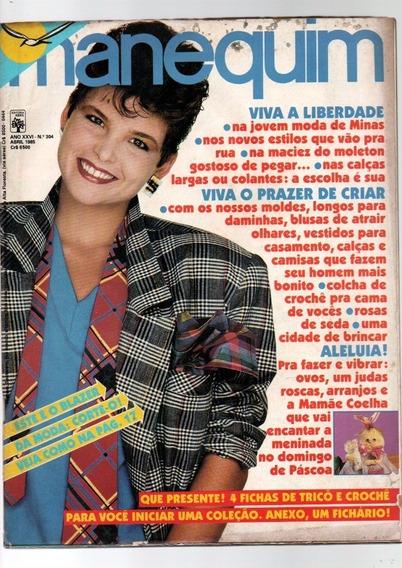 Lote 12 Revistas Manequim Da Década De 1980 Com Moldes