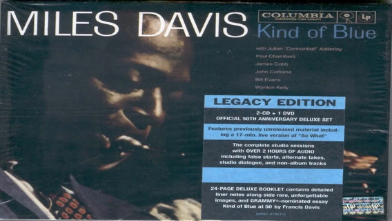 Miles Davis Kind Of Blue Legacy 2 Cd + Dvd Nuevo Original