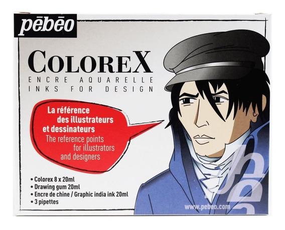 Aquarela Liquida Tinta Colorex Pebeo Design Kit 13 Itens