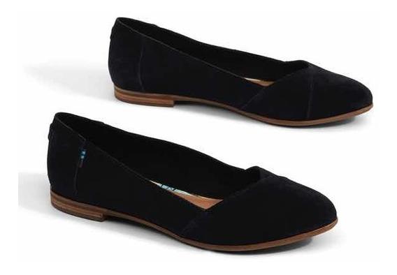 Flats, Balerinas Toms Gamuza Color Negro 4.5 Mx Envió Gratis
