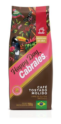 Imagen 1 de 6 de Cafe Molido Cabrales Happy Day 260g Sin Tacc Sin Azucar