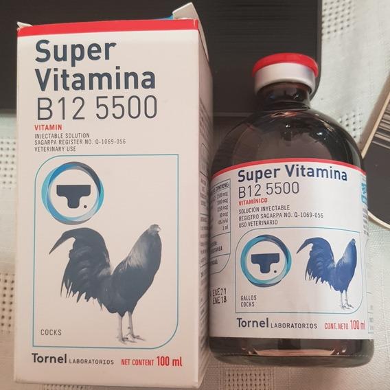 Super Vitamina B12 5500 Para Gallos De 100 Ml 4 Pzas