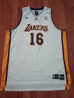Jersey Nba Lakers Pau Gasol De Adulto
