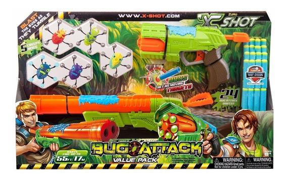 Conjunto De Lançadores De Dardos X Shot Bug Attack Candide