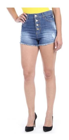Short Jeans Femininosawary Cintura Alta Tamanho 38 - 244001
