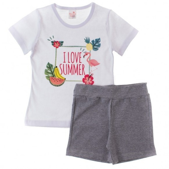 Conjunto Infantil Menina Blusa E Short Fun All