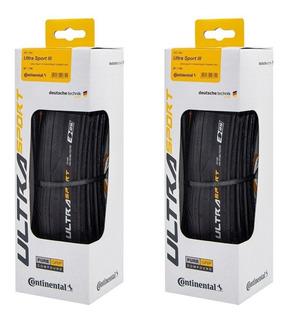 Par Pneu Continental Ultra Sport 3 700x23 Kevlar Speed Preto