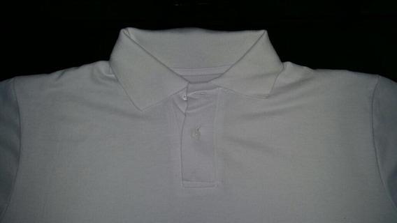 Chomba Pique $250de Algodon Talles S/m/l/xl/xxl Solo Blanco