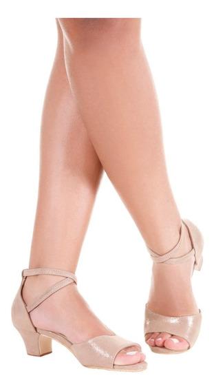 Sandália De Dança Salto 4,5cm-só Dança-solado Couro-bl667