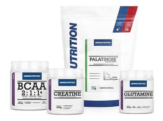 Kit Palatinose + Creatina 200g + Bcaa 300g + Glutamina 300g