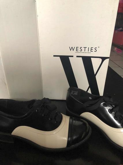 Zapatos Westis Blanco Con Negro