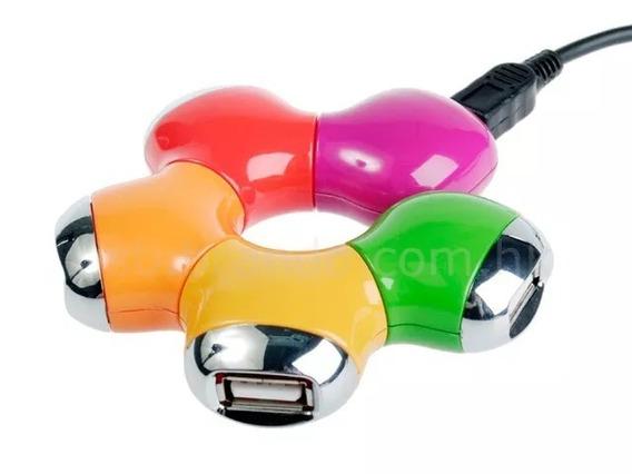 Hub Usb 2.0 Com 4 Portas Colors Articulável Bd -19