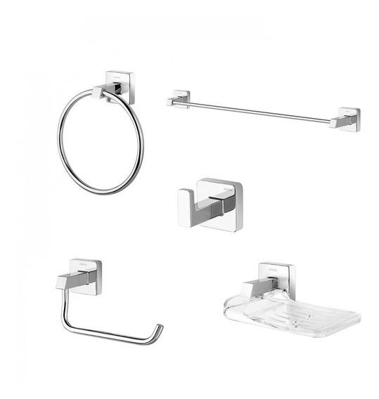 Kit Acessórios Para Banheiro 5 Peças Trip Docol Fawt