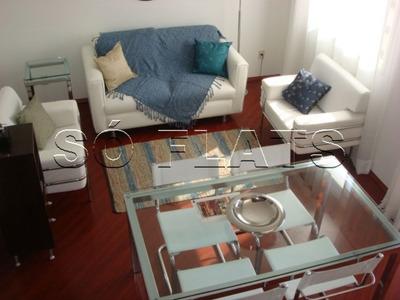 Flat Em Moema Com 02 Dormitórios Com A Melhor Infraestrutura - Sf25107