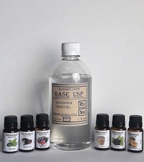 Base Glicerina Propilenglicol 2%n 500ml Mas 4 Aromas Vapeo