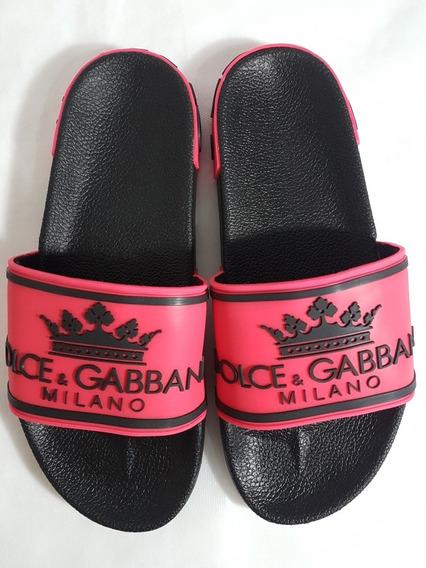 Chinelo Slide Dolce Gabbana Pronta Entrega