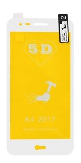 Película De Silicone Gel 5d Lg K4 2017 Branca