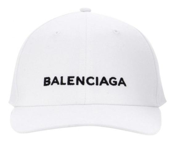 Gorra Balenciaga Negra Y Blanca Ajustable