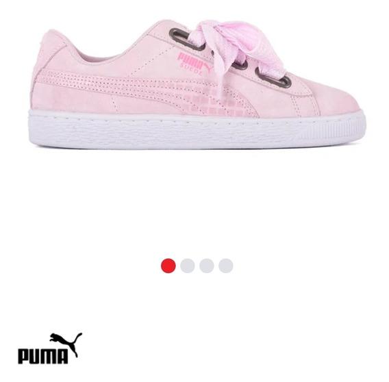 Puma Suede Heart Satin Ropa y Accesorios Rosa en Mercado
