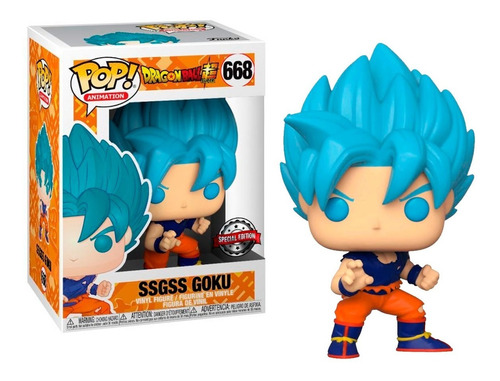 Funko Pop Ssgss Goku Blue 668 Dragon Ball Super Original