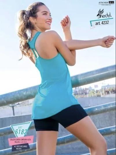 Musculosa Deportiva Lisa De Mujer - Shedyl 4232