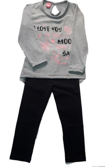 Conjunto Set Remera +calza De Lycra Algodón Nena