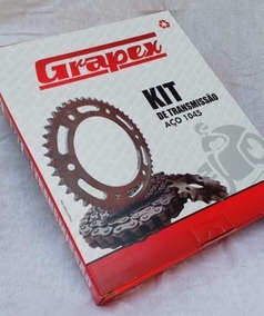 Kit Transmissao Relação Honda Nxr Bros 125 150 Aço 1045