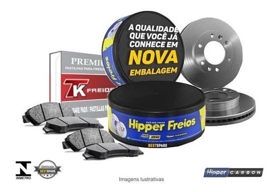 Kit Discos + Pastilhas Freio Dianteiro Vw Voyage G5 1.0 2011