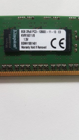 8gb 2rx8 Pc3-12800e Ddr3 Udimm Ecc Ml310e G8 Ibm X3250 M4