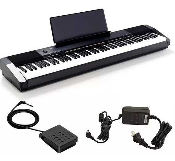 Piano Digital Portátil Casio Cdp130 Preto C/ Fonte E Pedal