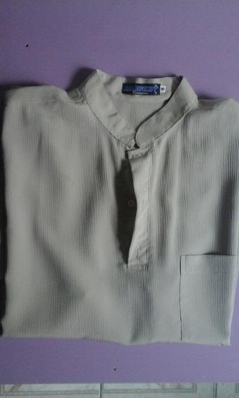 Camisa Casual Remofenut Camiseiro - Marron Claro - G