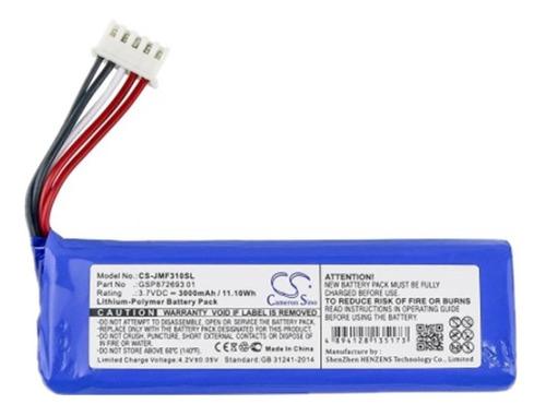 Bateria Para Jbl Flip 4 Cs-jmf310sl