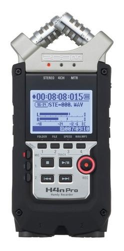 Imagem 1 de 10 de Gravador Áudio Zoom H4n Pro Digital Handy Recorder