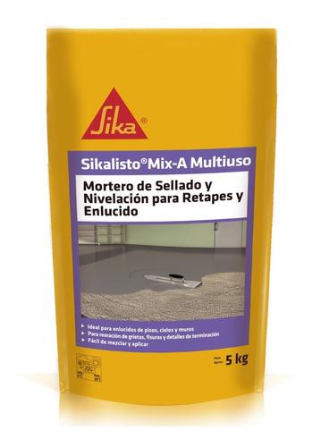 Imagen 1 de 5 de Sikalisto Mix-a Multiuso Mortero Retapes Y Nivelación 5 Kg