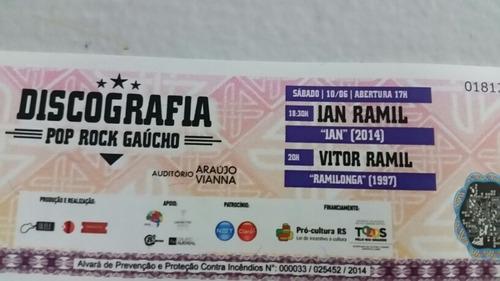 Vitor Ramil -  Discografia Pop Rock Gaúcho (ingresso Antigo)