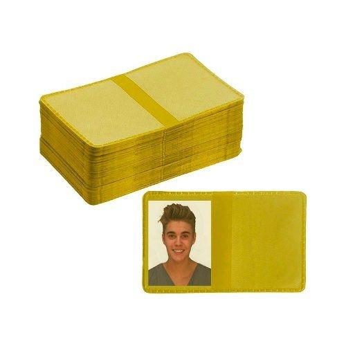 Imagem 1 de 4 de Carteirinha 3x4 200 Unidades - Amarela