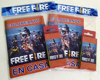 Libritos Para Colorear Con Lapices - Freefire (20 Unid)
