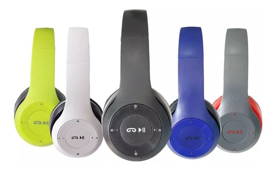 Fone S/fio Bluetooth Chamadas Sd Fm Mp3 Usb Aux P2 Promoção