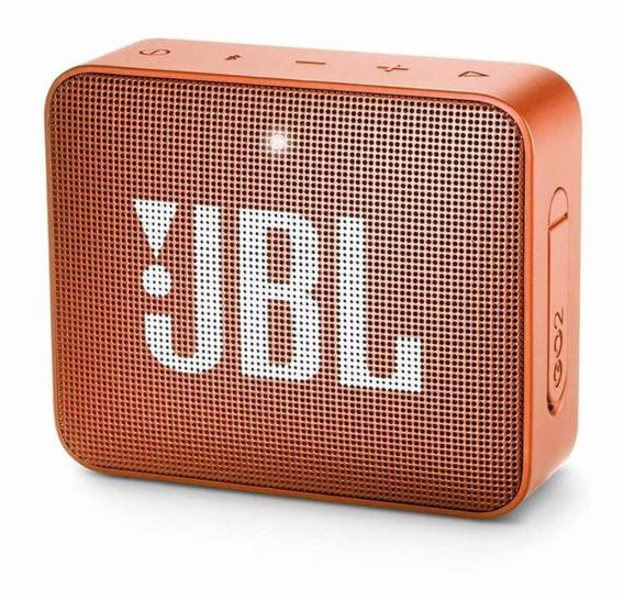 Caixa de som JBL GO 2 portátil sem fio Coral orange