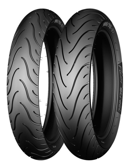 Llantas Michelin 100/80-17 52s Y 130/70-17 62s Pilot Street