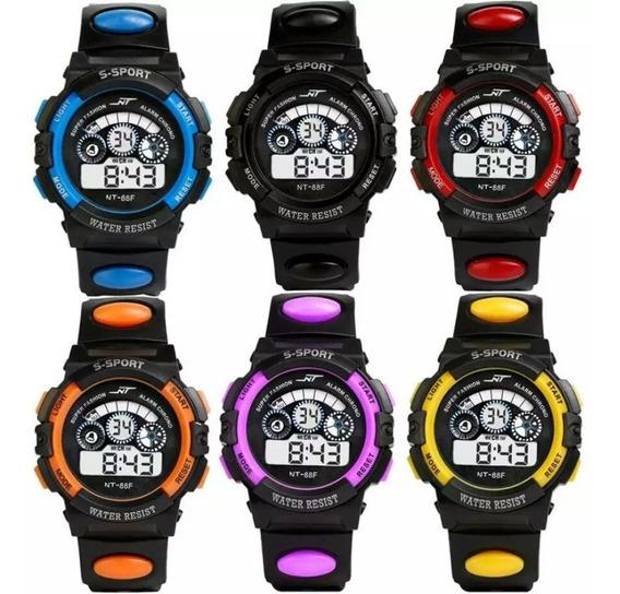 Relógio Infantil Espotivo Digital Com Led Sports Unissex